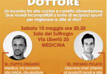 A Cena con lo Chef e il Dottore – 10 maggio 2014 a Medicina